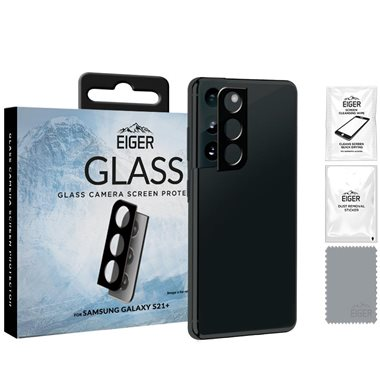 EIGER Samsung Galaxy S21+ Kameraglas 3D Glass Camera clear