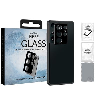 EIGER Samsung Galaxy S21 Ultra Kameraglas 3D Glass Camera clear