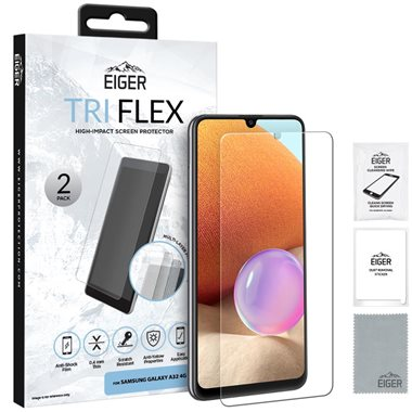 EIGER Samsung Galaxy A32 Display-Glas (2er Pack) Tri Flex High-Impact clear