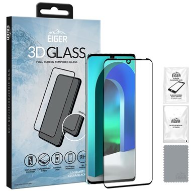 LG Velvet 3D Glas, ohne Fingerprintöffnung Case friendly