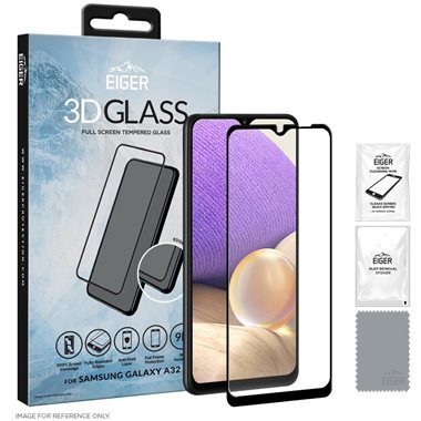 Eiger 3D GLASS Tempered Glass Screen Protector for Samsung Galaxy A32 4G