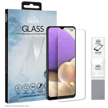 Eiger GLASS Tempered Glass Screen Protector for Samsing Galaxy A32 4G