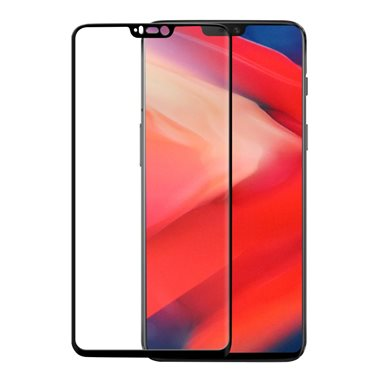 OnePlus 6 Display-Glas 3D Glass Case-Friendly, transparent/black